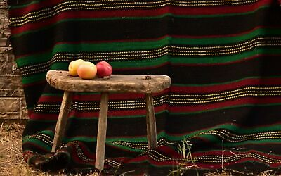 Antique Wood Three Legged Stool Vintage Stool Primitive Farm Stool