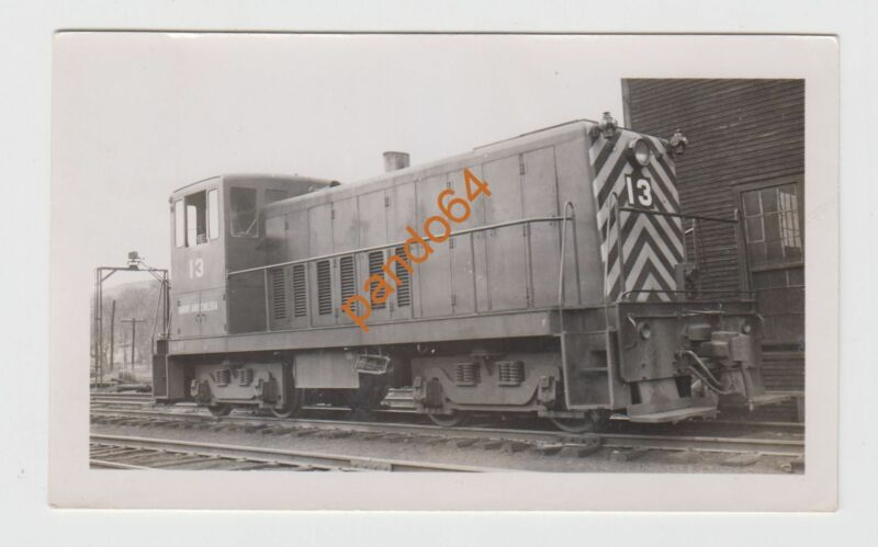 BARRE & CHELSEA #13 DIESEL SWITCHER LOCOMOTIVE Original B&W Photograph TP10