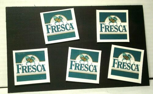 RARE Vintage Fresca Small Magnets NEW Lot of 5 from Coca Cola
