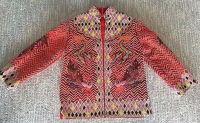 AMAZING Vintage Couture Custom 50s MCM Sequin Beaded Asian DRAGON Tourist Jacket