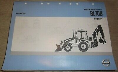 Volvo Bl70b Backhoe Loader Tractor Parts Manual Book Catalog Sn 330104-up