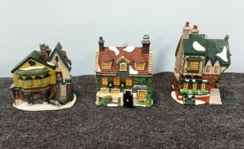Dept 56 Charles Dickens Ornament Collection 1993-1996 Dedlock Arms, Pied Bull+