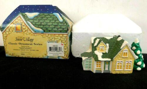 Dept 56 Snow Village Classic Ornament Series NANTUCKET  #98630 Retired EXCELLENT