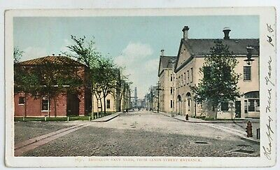 1906 NY Postcard NYC Brooklyn Navy Yard Sands Street Entrance bldgs Detroit Co