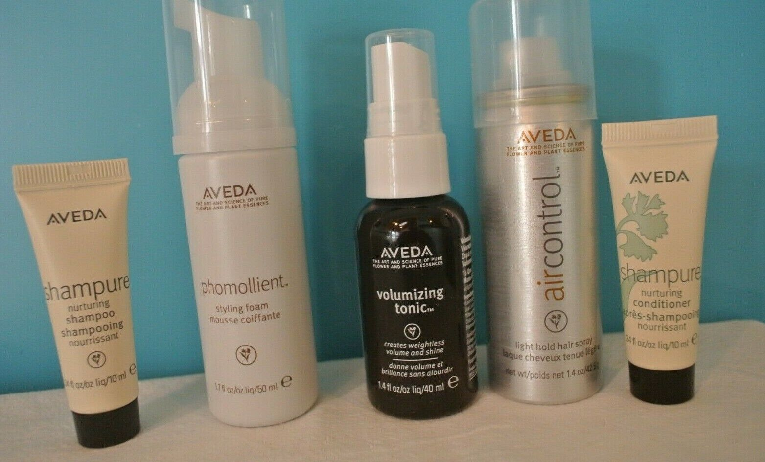 5 Piece Travel Size Aveda Hair Products--New / Unopened Volu