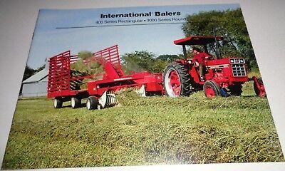 Ih International 428 435 445 Twine Baler 3450 3650 Round Baler Sales Brochure