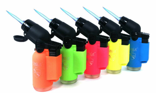 Eagle Torch 45 Degree Jet Flame Refillable Torch Lighter (Neon Colors) - 5 Pack