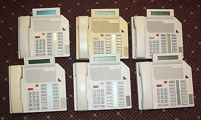 Lot Of 6--northern Telecomnortelmeridian M2616-beige Desk Phone Ntzk16ca35