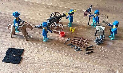 Rare 1970s Playmobil Playpeople Vintage U.S Cavalry Super Set 1770, Marx Toys