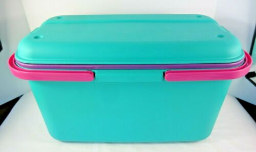 Eagle CraftStor Teal Plastic Craft Sewing Storage Organizer Tote with 1 Tray USA
