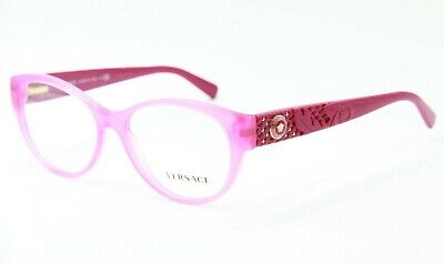 BRAND NEW VERSACE MOD. 3195 5099 PINK EYEGLASSES MOD.3195 AUTHENTIC RX 54-17 (Pink Versace Glasses)