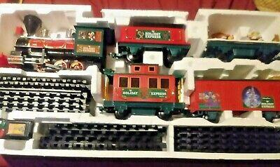 Disney Parks 30 piece Christmas Train Set Mickey Minnie skater park WORKS GREAT