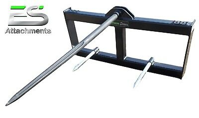 Es New 49 Hay Spear Skid Steer Quick Attach Tractor Bale Spear Local Pick Up