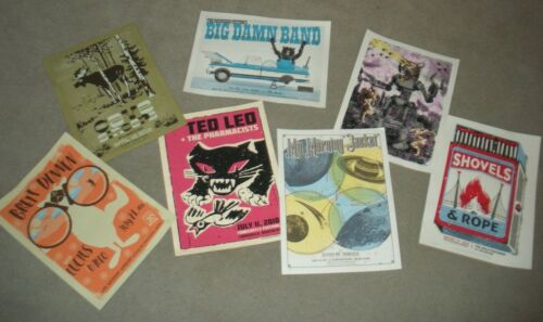 Lot of 7 Posters by Madpixel Some Signed & Numbered MY MORNING JACKET & OTHERS