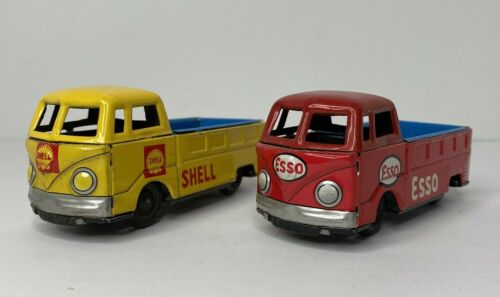 ENDOH 1960s Tin Friction ESSO & SHELL VW Volkswagen Pick Up Truck Bus Japan