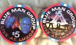 Uncirculated $5 Las Vegas Luxor Blue Man Group Casino Chip
