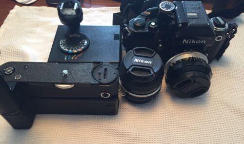 Nikon F2 Photo. MD-3,50mm F 2 24mn F2.8 Nikkors SB-2 Flash - $325.00