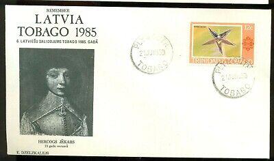 REMEMBER LATVIA LATVIAN GATHERING TOBAGO 1985 COVER TRINIDAD COURLAND DUKE JACOB