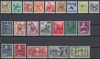 Schweiz Internationale Ämter SDN Mi.Nr. 70-90 postfrisch Mi.Wert 85€ (6624)