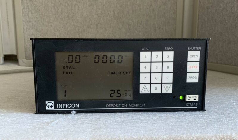LH Leybold Inficon Deposition Monitor XTM/2 - Model: 758-500-G1, SN: F6XW16A008