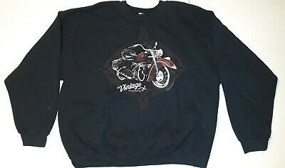 INDIAN MOTORCYCLE MENS SWEATER George Vintage Classics 50/50 Cotton Polyester XL
