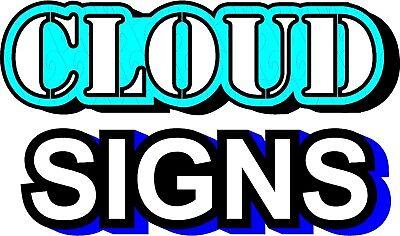 Cloud Signs - Led Illuminated