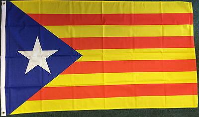 Blue Separatist Catalan Flag Nationalist Socialist Catalonia Catalunya Barcelona