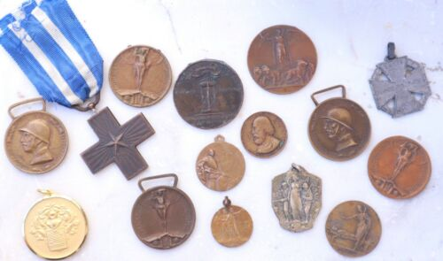 Italy - World War I Medal, Cross, Beautiful Medallions Military, Army WWI LOT