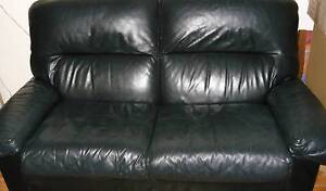 black leather 2 seater Trinity Gardens Norwood Area Preview