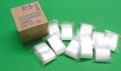 1000 Ziplock Bags 2mil Clear 1.5x2 Small Baggies 1-12 X 2 Zip Lock 1000 Pcs