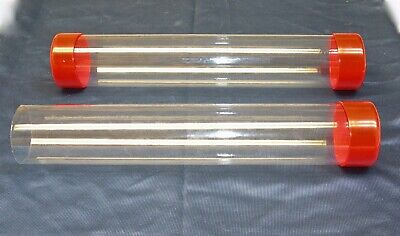 34-1-12 Clear Plastic Packing Storageshipping Tube Wcap U-pick Color Size