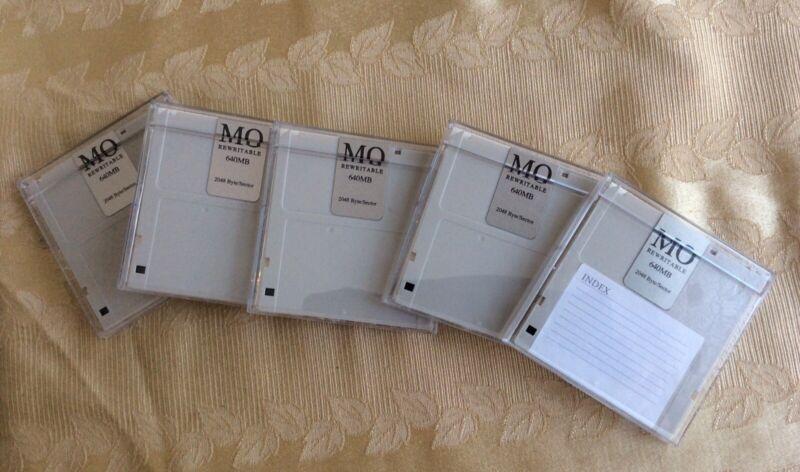 640MB Magneto Optical (MO) Rewritable Disks - Case of 5 disks!