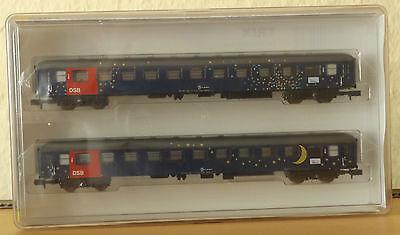 Trix Minitrix 15480 Personenwagen-Set  der DSB 2-teilig +NEU in OVP+