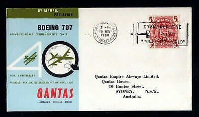 33-AUSTRALIA-AIRMAIL COVER WINTON to SYDNEY.1960.Boeing 707.40 Annivers.QANTAS.