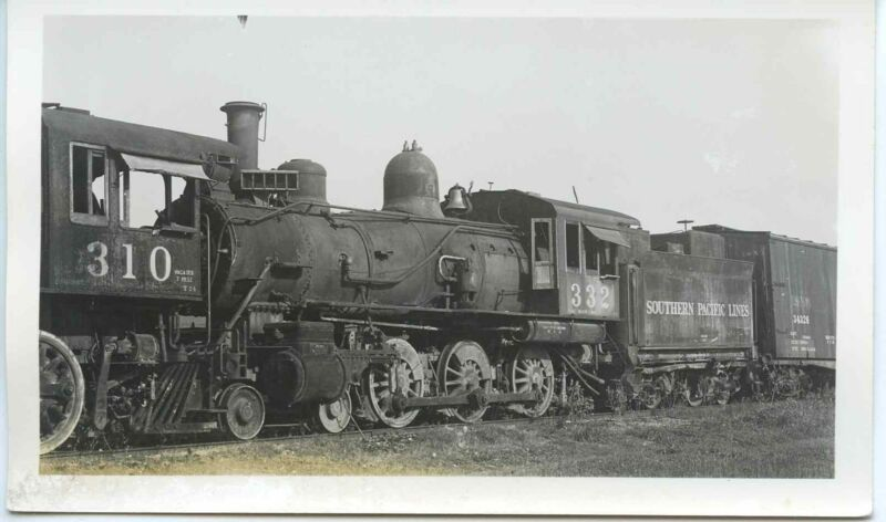 7A647 RP 1930s SP SOUTHERN PACIFIC RAILROAD ENGINE #332 SCRAPPED 1936