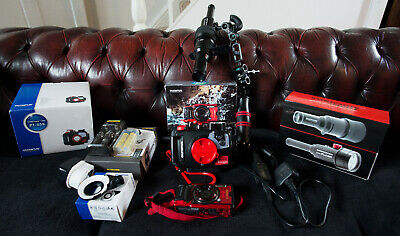 Olympus TG-6 - Red, Backscatter Mini Flash and Optical Snoot Combo + extras!