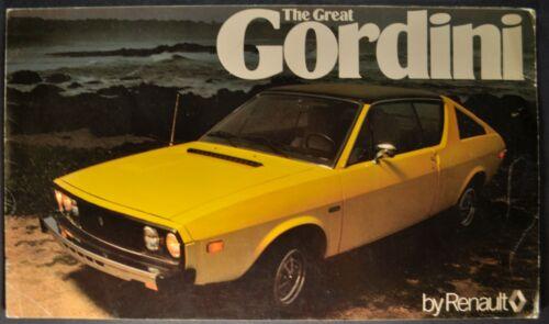 1976 Renault 17 Gordini Sales Brochure Folder Nice Original 76
