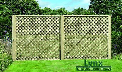 Tanalised! Privacy! Lattice! 180cm x 183cm (PL13) Fencing panel! / Trellis!