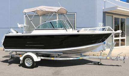 New 5000mm aluminium boat, 60hp Honda, Dunbier trailer