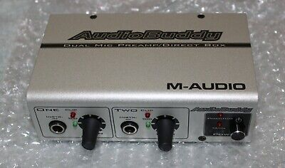 ( new with out box ) M-Audio Audio Buddy Dual Mic Preamp / Direct Box