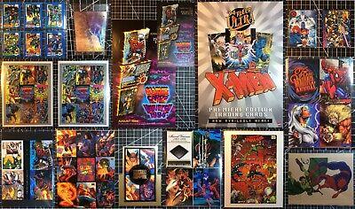 1991 1992 1993 1994 1995 X-Men Marvel Universe Flair Cards Misc Promo Lot