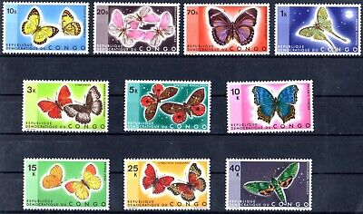 Stamps of Congo 1971  # 410-419 butterfiels sets MNH 65.-Euro
