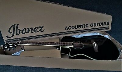IBANEZ AEG10LII BK Acoustic-Electric Guitar LEFT HANDED Fishman Pickup BLACK