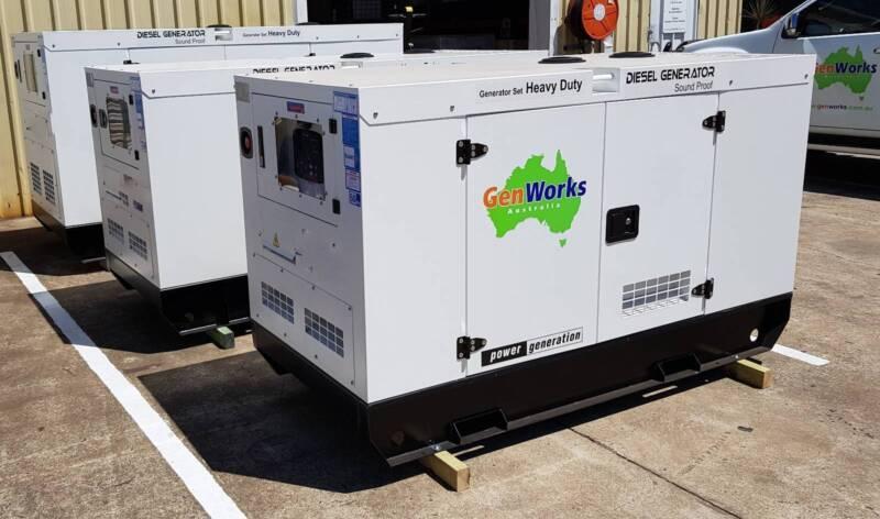 New Diesel Generator 12kVA 240V single phase in Canopy