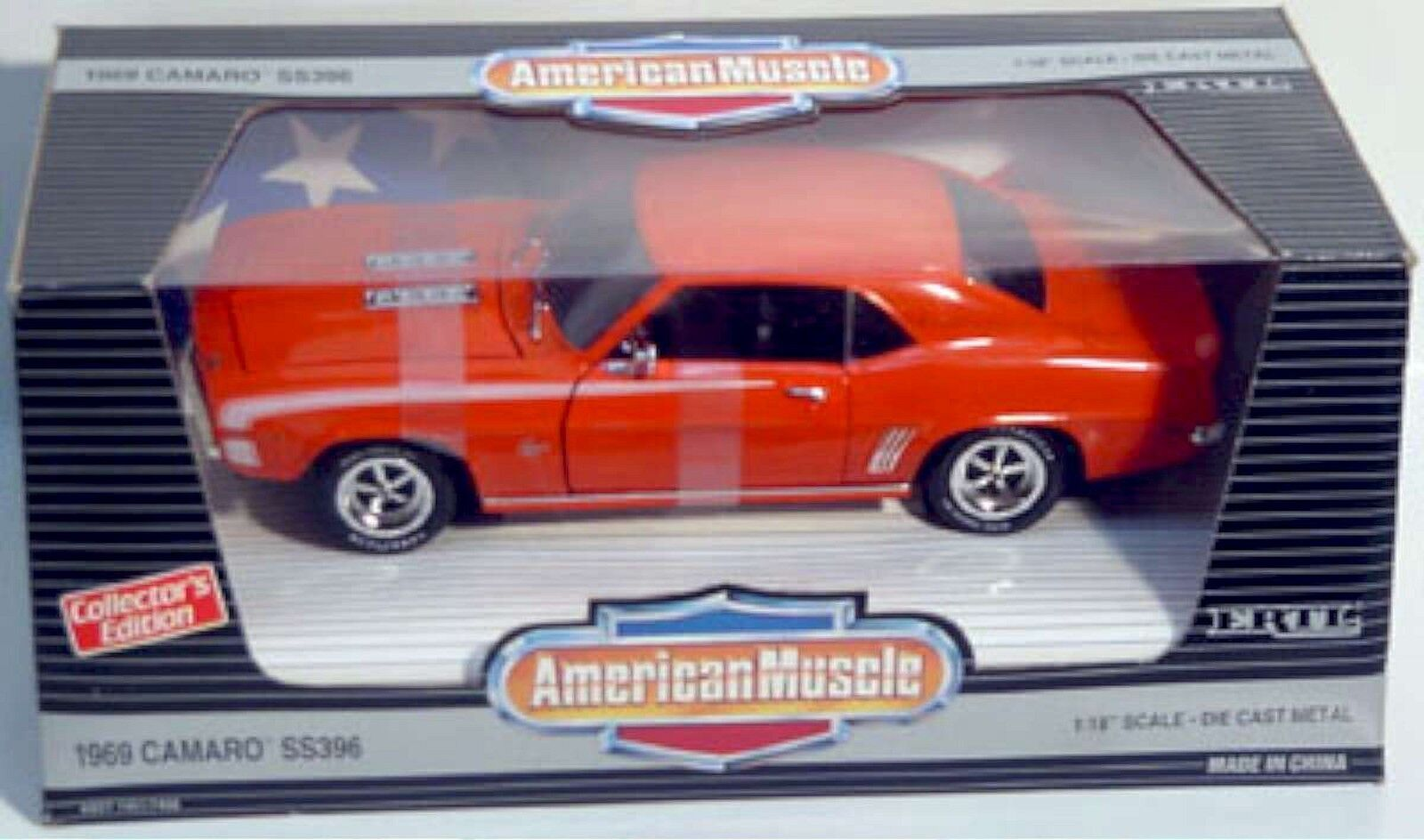 Ertl 1 18 1969 Chevy Camaro Ss396 Hugger Orange 7456