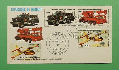 DR WHO 1984 DJIBOUTI FDC FIRE PREVENTION  C240913