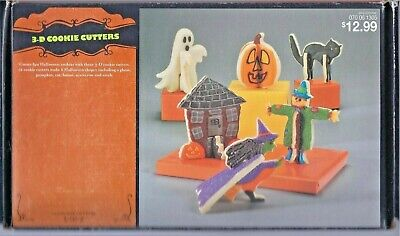 Nordic Ware 3-D Halloween Stand-Up Cookie Cutters Set of 12 Pieces - NEW IN BOX