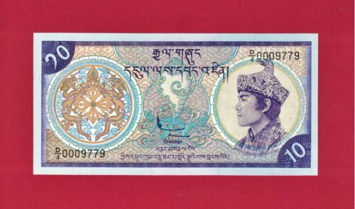 10 Ngultrum 1986 ND(1985-1992) P-15a.2 - PRINTER TDLR SCARCE BHUTAN UNC BANKNOTE