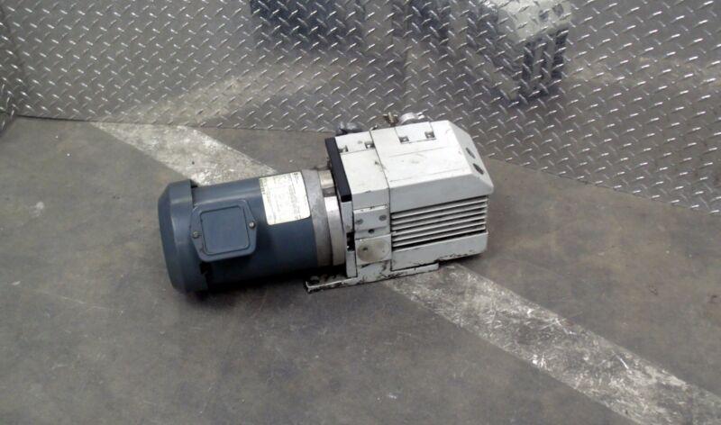 LEYBOLD D8B TRIVAC VANE VACUUM PUMP W/ GE 5K49PN4167 1 HP FR56C 1725 RPM MOTOR
