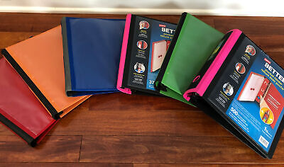 Lot Of 6 Staples 1.5 1 Better Binders Multiple Colors 2 New 4 Used Euc